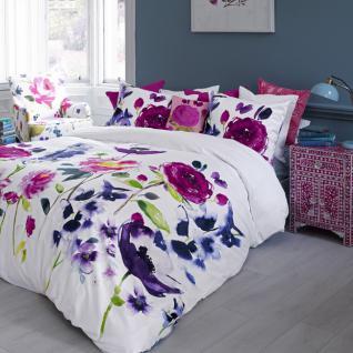 Bettwäsche 155x220 cm von Bluebellgray Taransay100 % Baumwolle Satin Garnitur inkl. 1 Kissen 80x80 - Vorschau 4
