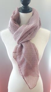 Schal/Halstuch rosé mit kleinen Punkten 70x180 cm von Clayre und Eef - Vorschau 2