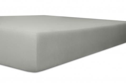 Spannbetttuch Organic-Cotton, schiefer 180x200x30 bis 200x220x30 cm GOTS zertifiziert von Kneer
