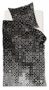 Baumwoll-Bettwäsche 155x220, Schwarz/Weiß Beddinghouse 100 % Baumwolle