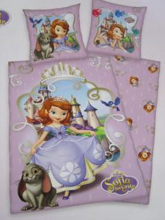 """Kinder Bettwäsche 135x200 + 80x80 cm """"Sofia die Erste"""" von Walt Disney mit Reißverschluß von Herding - Vorschau 2"""