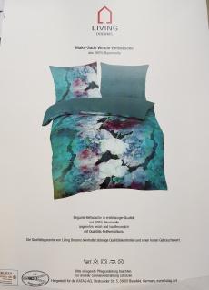 Bettwäsche 135x200 cm Mako-Satin 100% Baumwolle Garnitur Wendebettwäsche Living Dreams smaragd - Vorschau 3