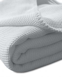 Sommerdecke, LaDiva Waffelpique, extra leicht 150/210 cm 100% Baumwolle von Kneer