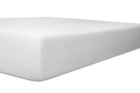 Spannbetttuch Organic-Cotton, weiß 180x200x30 bis 200x220x30 cm GOTS zertifiziert von Kneer