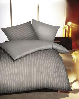 Satin Bettwäsche 155x220 cm Farbe Marine Garnitur 326/611 von Kaeppel Essential Eternity Combo 100% Baumwolle - Vorschau 2