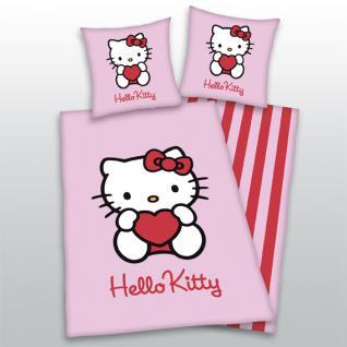 """Bettwäsche 135x200 + 80x80 cm """"Hello Kitty"""" 4471-28 Herding - Vorschau"""