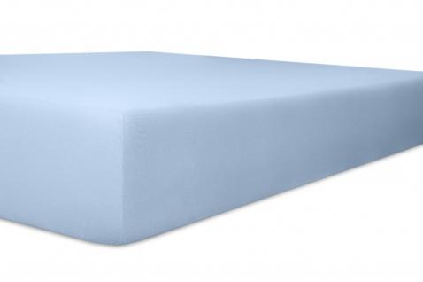 Spannbetttuch Organic-Cotton, hellblau 140x200x30 bis 160x220x30 cm GOTS zertifiziert von Kneer