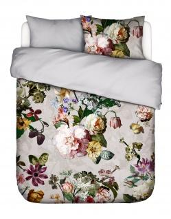 Bettwäsche 135x200+80x80 cm von Essenza Fleur Duvet Cover Grey