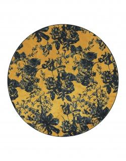 Runder Teppich Vivienne Ochre von Essenza in der Größe 90cm 60% Polyester/ 30% Thermoplastik PU / 10% Baumwolle