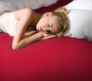 Bella Donna 90-100x190-220x25 cm Spannbetttuch 0185 Rot Jersey 97% Baumwolle 3% Elastan