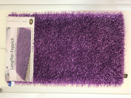 Gözze Teppich, Langflor, Metallic-Optik, 60 x 100 cm, Shaggy, Flieder