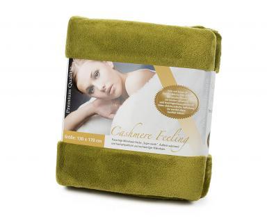 Kuscheldecke Premium Cashmere Feeling 130 x 170, Limonegrün von Gözze