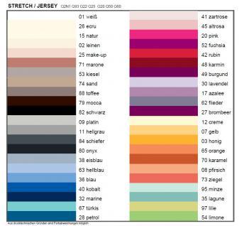 Kneer Kissenbezug Edel-Zwirn-Jersey mit Rundumgummi passend zu Nackenstützkissen wie z.B. Tempur Orginal Queen ca. 60 x 30und aus 44 Farben