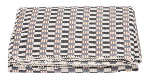 Wohndecke 1981 Deco Plaid Patch antrazit 130x200 von David Fussenegger