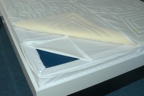 Wasserbett-Box für Softside mit Lederlook-Border (Bezug)
