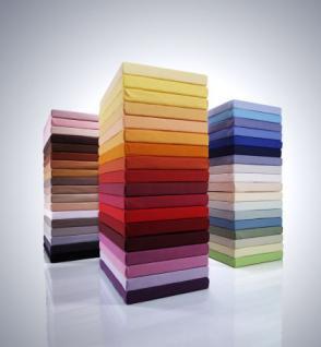 Spannbetttuch Bella Donna 180-200x200-220 cm 25 cm hoch Jersey 97% Baumwolle 3% Elastan Farbe 0631 Apfel
