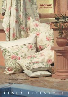Bettwäsche 135x200 Bella Allover Landhaus-Stil Mako-Satin Garnitur von Momm mit Reißverschluss