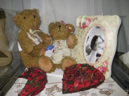 Teddybär, groß mit Weste ca. 35 cm - Vorschau 4