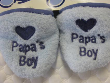 Baby Kuschelschuhe mit rutschhemmender Sohle in lila, hellblau oder cremefarben - Vorschau 3
