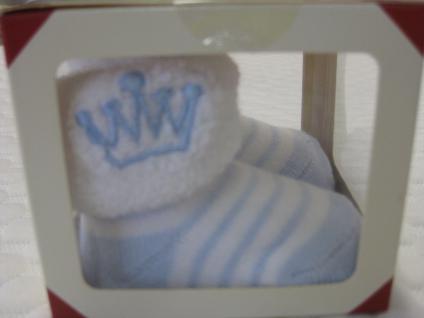 Baby Erstlingssocken Newborn Söckchen verschiedene Farben 0-6 Monate, in Geschenkverpackung - Geschenk zur Geburt / Taufe - Vorschau 4