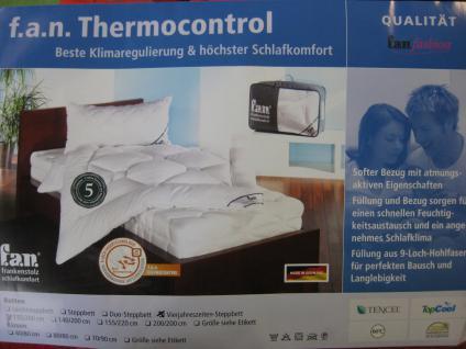 Bettdecke Thermocontrol Vierjahreszeiten-Steppbett 135/200 cm von f.a.n. Frankenstolz softer Schlafkomfort - Vorschau 2