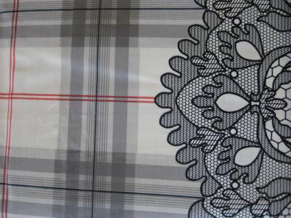 Esprit Mako-Satin Bettwäsche 135x200 + 80x80 cm Grau-Rot Karo&Muster - Vorschau 4