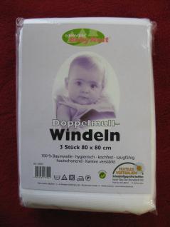 Windeln Baby Mullwindeln Doppelmullwindeln 80x80 cm im 3erPack von Odenwälder - Vorschau 1