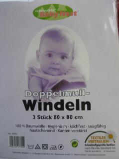 Windeln Baby Mullwindeln Doppelmullwindeln 80x80 cm im 3erPack von Odenwälder - Vorschau 2