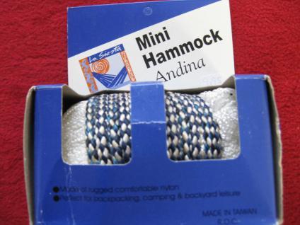 Mini Hammock Netz-Hängematte für Reise + Camping Trekking-Hängematte