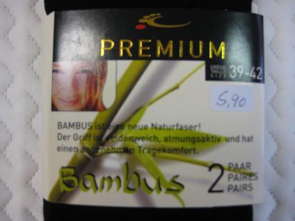 Socken im Doppelpack 39-42 für Damen/Herren 2erPack Bambus Socken - Vorschau 5