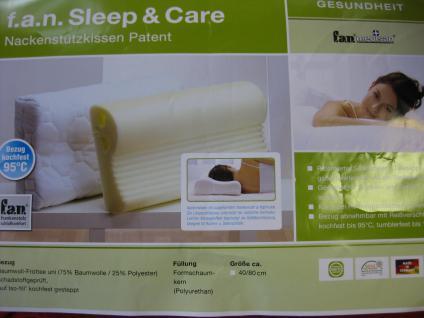 Nacken-Stützkissen 40x80x13 cm Sleep&Care mit Bezug Nackenstützkissen Patent - Vorschau 4