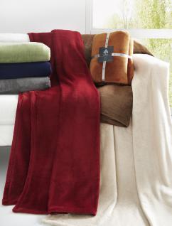 Kuscheldecke Uni 150x200 in Farbe Rot 61 Decke Castel 8900 von Irisette