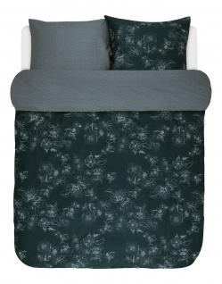 Wendebettwäsche 135x200+80x80 cm von Marc O'Polo Varr Duvet Cover in Pine Green, 100% Baumwolle Satin