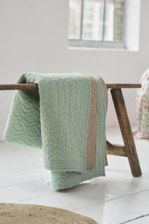 Tagesdecke Größe 220x265cm Leaves Quilt von PIP Studio in der Farbe Green-Khaki