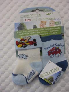 Baby-Socken Bio-Cotton Doppelpack 74-80