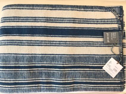 Wohndecke Philipe 150x200 cm im Vintage-Look Farbe blau-creme (E10) Art. 812447 von Pad