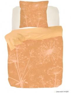 Bettwäsche Botan Naturell 135x200 100% Tencel Garnitur von Kayori mit Reißverschluss