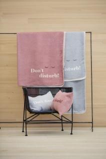 """Wohn und Kuscheldecke Savona """" don't disturb"""" 150x200 in der Farbe Filz von David Fussenegger"""