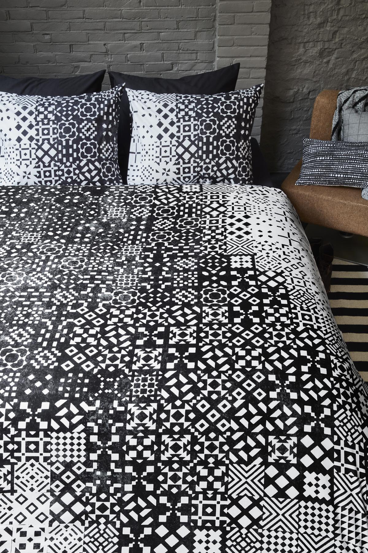 baumwoll bettw sche 135x200 schwarz wei beddinghouse 100 baumwolle kaufen bei betten krebs. Black Bedroom Furniture Sets. Home Design Ideas