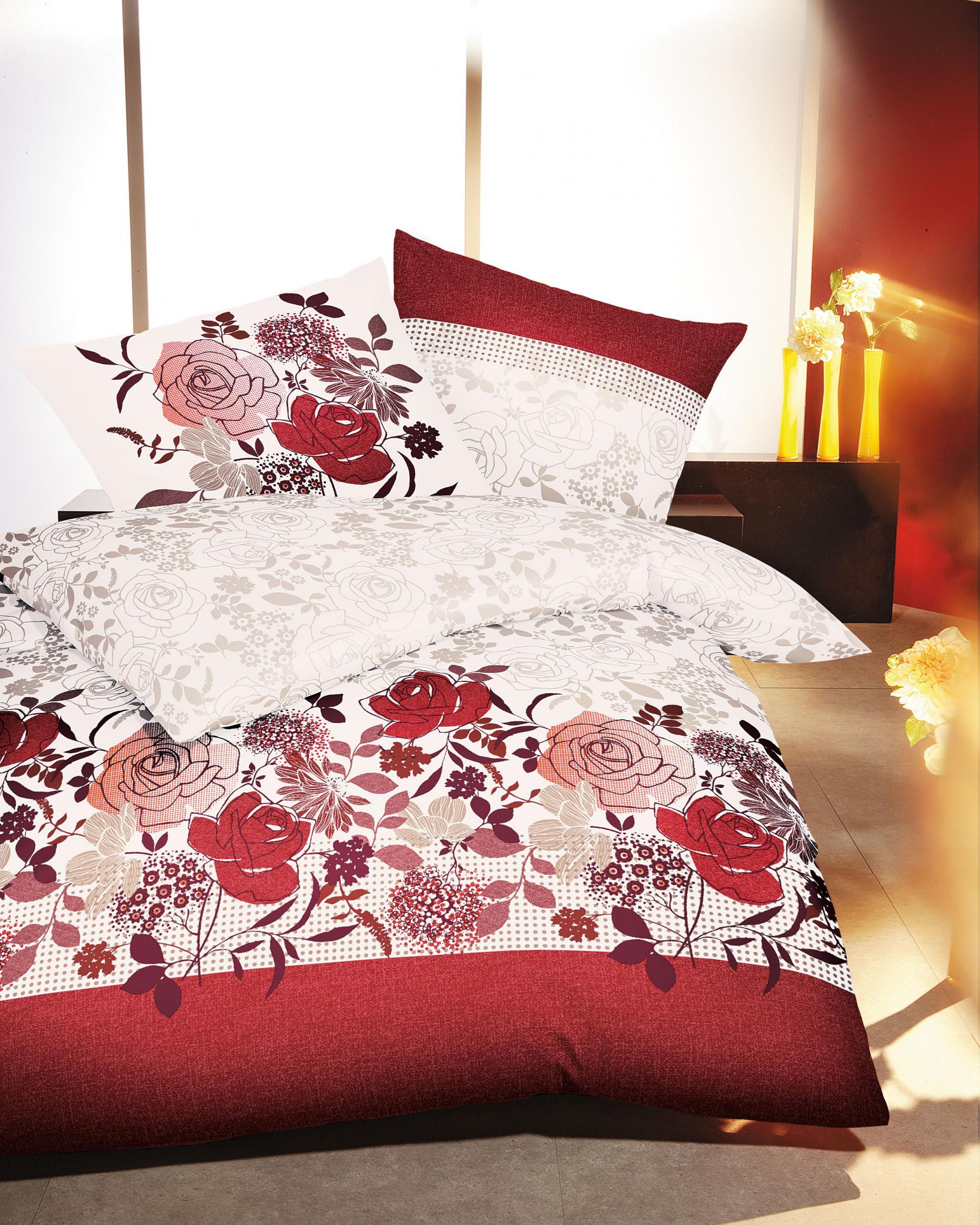 Bettwäsche 200x200 Cm Mako Satin Blumenmotiv Von Kaeppel Kaufen