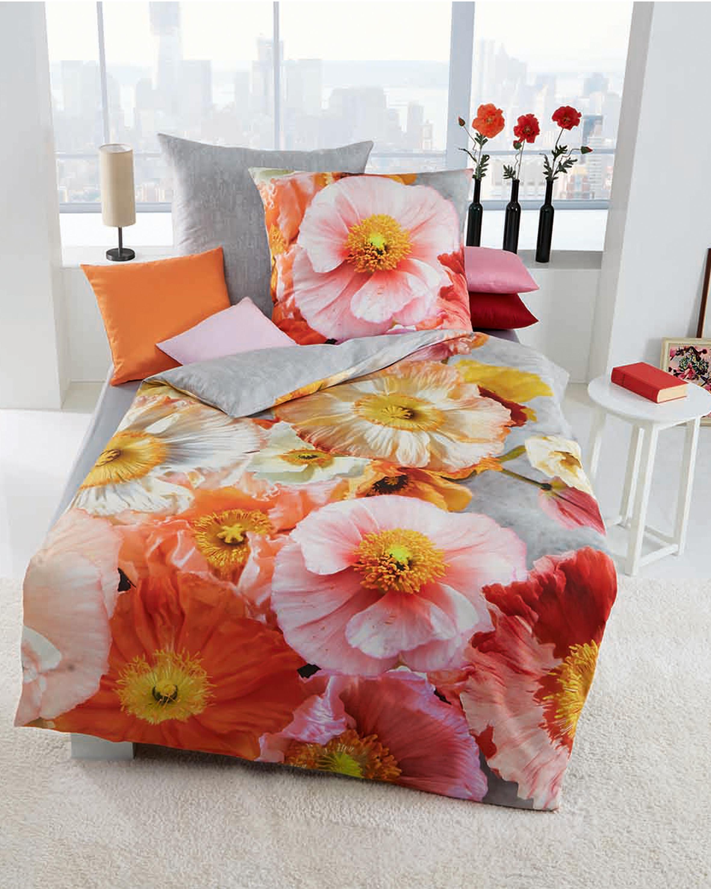 bettw sche 135x200 cm mako satin 861 609 silber von. Black Bedroom Furniture Sets. Home Design Ideas