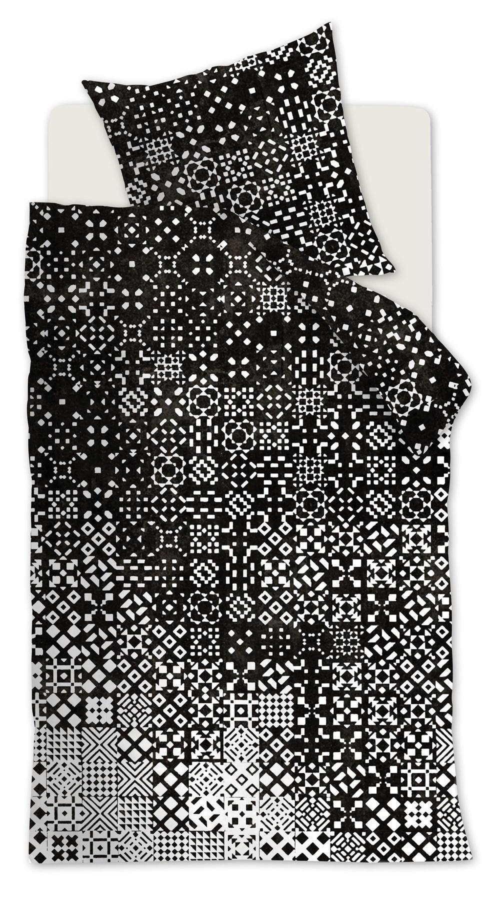Baumwoll Bettwäsche 155x220 Schwarzweiß Beddinghouse 100