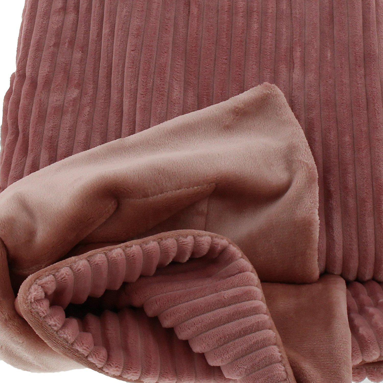 Altrosa Farbe wohndecke kuscheldecke 150x200 in cord optik farbe altrosa