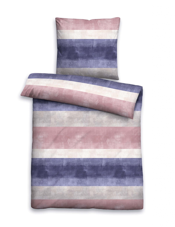 bettw sche garnitur mako satin kobalt gr e 135x200 cm 80x80 cm von biberna kaufen bei betten. Black Bedroom Furniture Sets. Home Design Ideas