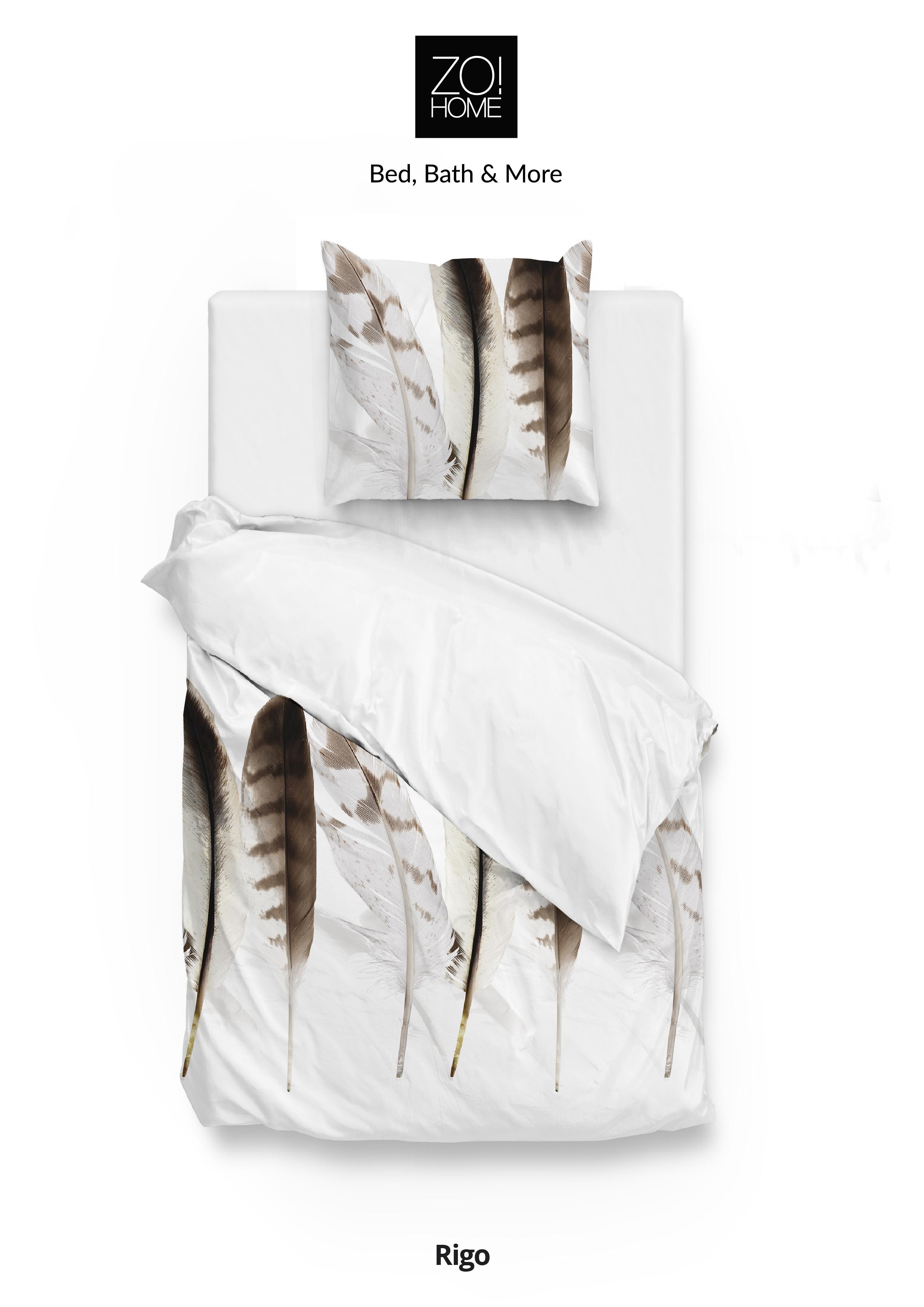 Bettwäsche Baumwolle Mako Satin Rigo White 155x220 80x80 Cm Von Zo