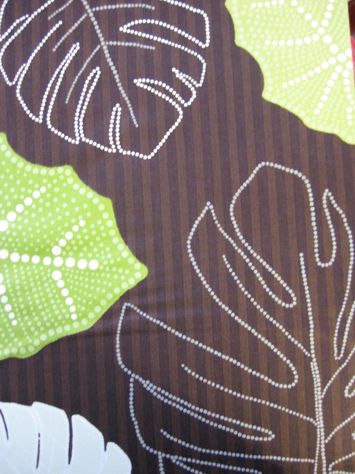 Bettwäsche 155x220 + 80x80 cm Braun-Grün Kleine Wolke Mako-Satin