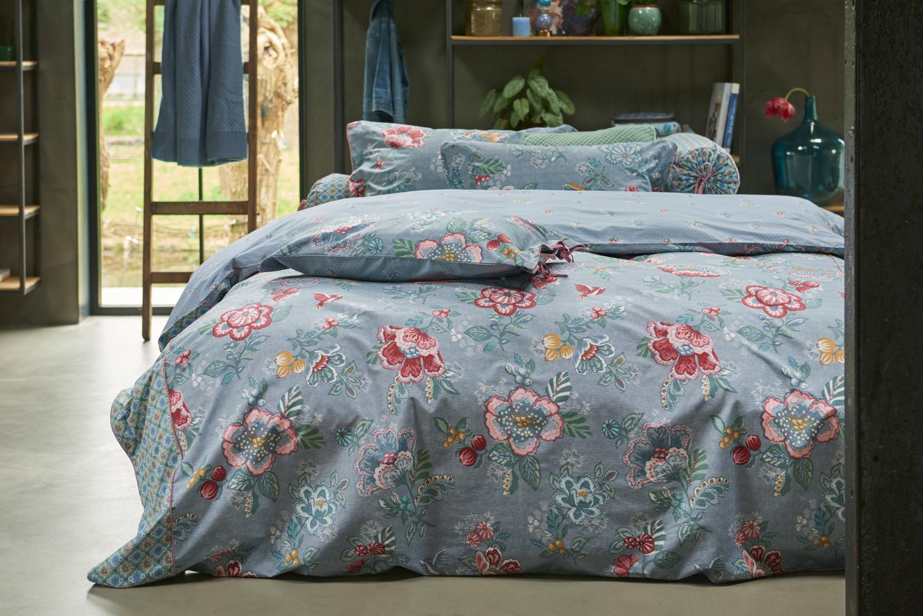 Bettwasche 155x220 80x80 Cm Von Pip Studio Berry Bird Farbe Blue