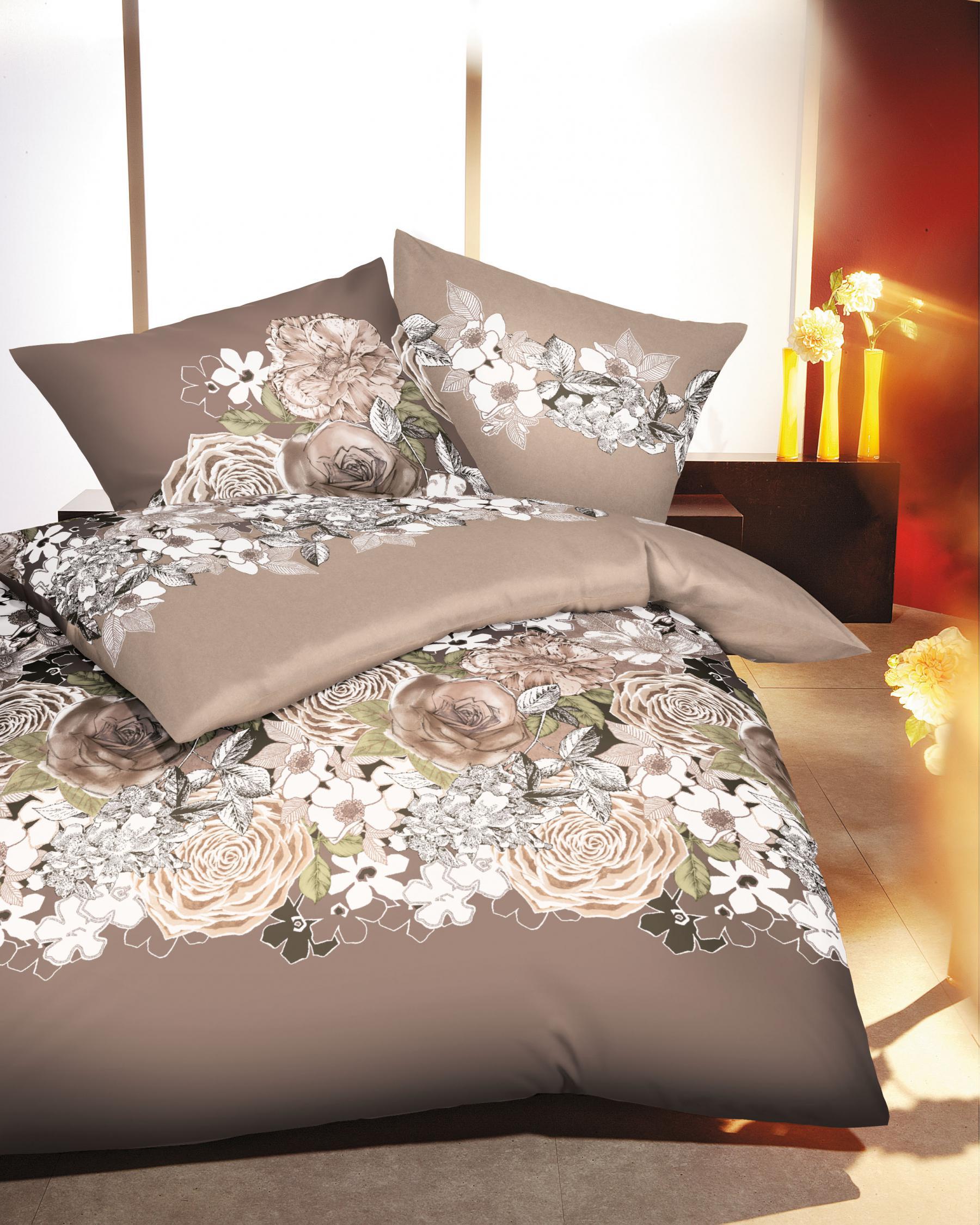 bettw sche 135x200 cm mako satin 419 646 natur von. Black Bedroom Furniture Sets. Home Design Ideas