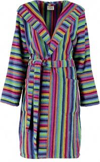 Bademantel für Damen in Gr. 32/34 von der Marke Cawö in 100% Baumwolle Frottier in der Farbe Multicolor