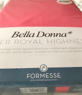 Jersey Spannbetttuch Bella Donna 140/200-160/220 -25 cm hoch Coral 97% Baumwolle 3% Elastan